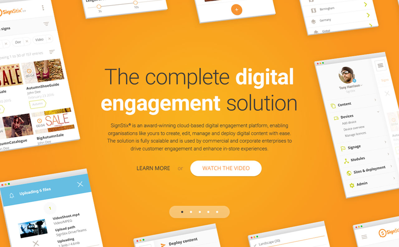 SignStix website carousel